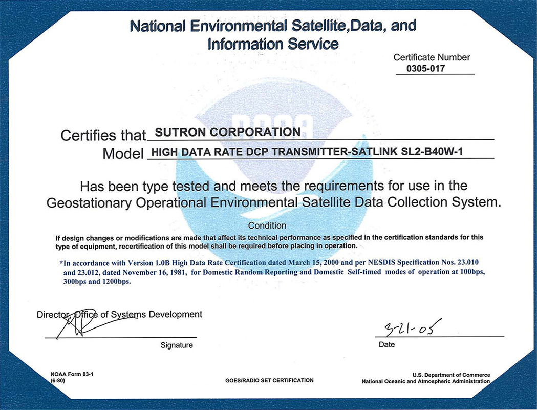 Certifications and contracts sutron corporation certifications and contracts alramifo Choice Image