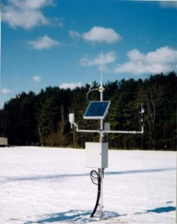 Portable AWS station with LOS communication for NWS in New York