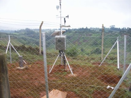 Portable AWS station with Cellular Telemetry in Kenya, Africa