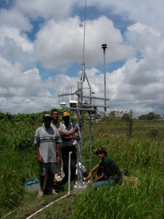 Portable AWS Station with GOES Telemetry in Venezuela