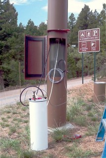 Typical ALERT Station with Stand Pipe Configuration