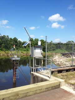 Stream Gauging  station at Marvin Braud  Pump station in Louisiana