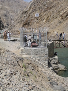 Stream Gauging  station in Gulbahar, Afghanistan